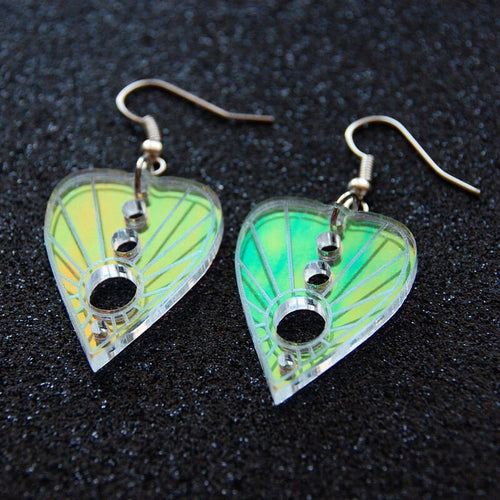 Iridescent Planchette Earrings