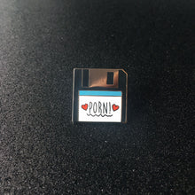 Load image into Gallery viewer, PORN! Floppy Disk Enamel Pin