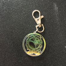Load image into Gallery viewer, Iridescent Rose Crest Keychain / Bag Charm