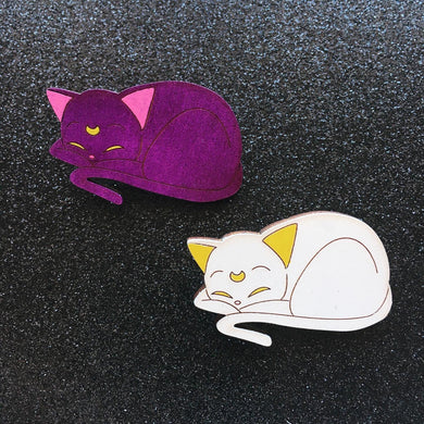 Luna & Artemis Hand Painted Pins