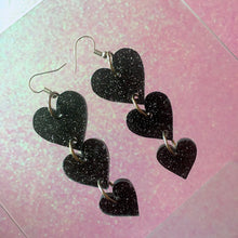 Load image into Gallery viewer, Starlight Hearts Tiered Earrings