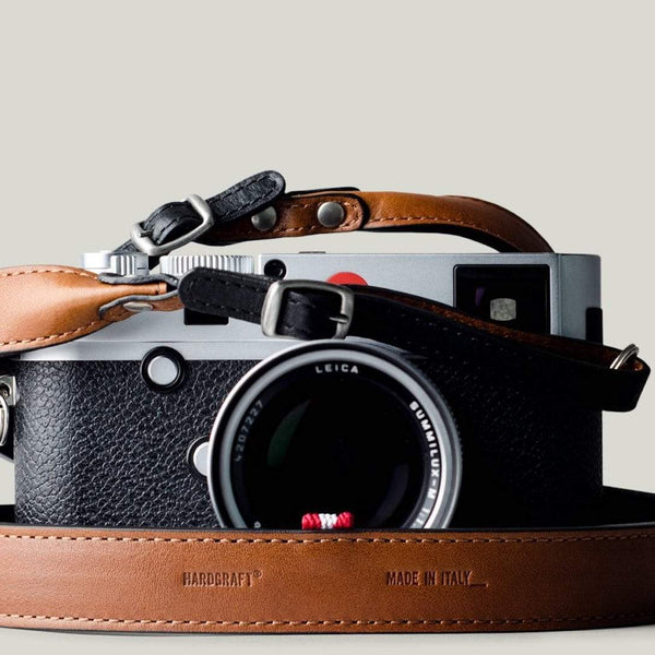 Nikon Olympus Personalized Camera Strap in Heavy-Duty Horween Leather Brown DSLR Camera Leash Photography Strap Detachable Cowhide Camera Neck Strap Suitable for Canon