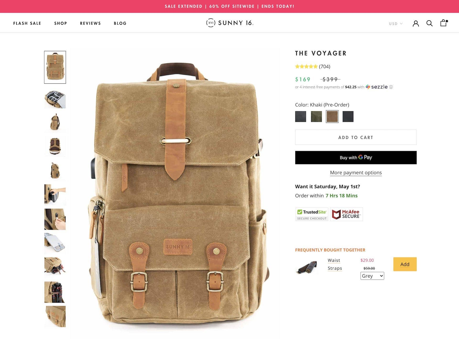 Best Canvas Camera Backpack by Sunny 16
