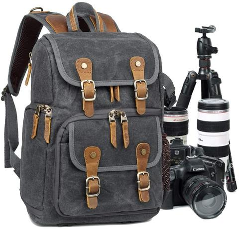 Best Canvas Camera Backpacks — Abonnyc Camera Backpack Canvas — Sunny 16