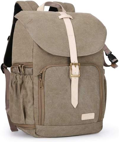 Best Canvas Camera Backpacks — BAGSMART Camera Backpack— Sunny 16