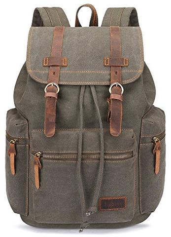 Best Canvas Camera Bags — BLUBOON Canvas Camera Backpack — Sunny 16