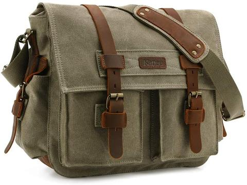 Best Canvas Camera Bags — Kattee Leather Canvas Camera Bag — Sunny 16