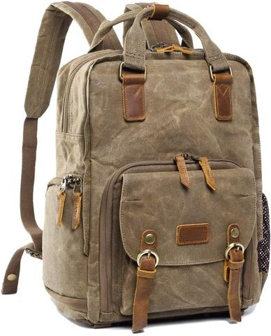 Best Canvas Camera Bags — S-Zone Canvas Camera Backpack — Sunny 16