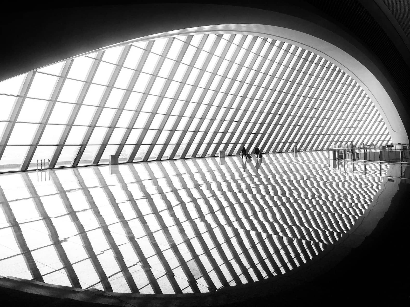 Black and White Architecture Photography - Interior Museum