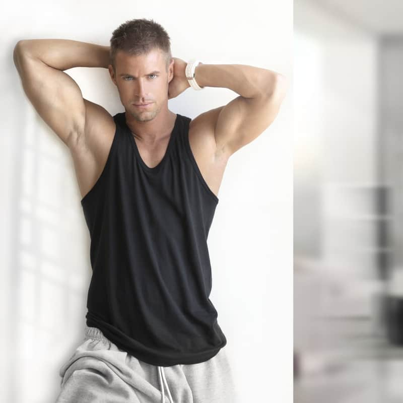 Male Model Poses for Photoshoots - Hands Behind Head