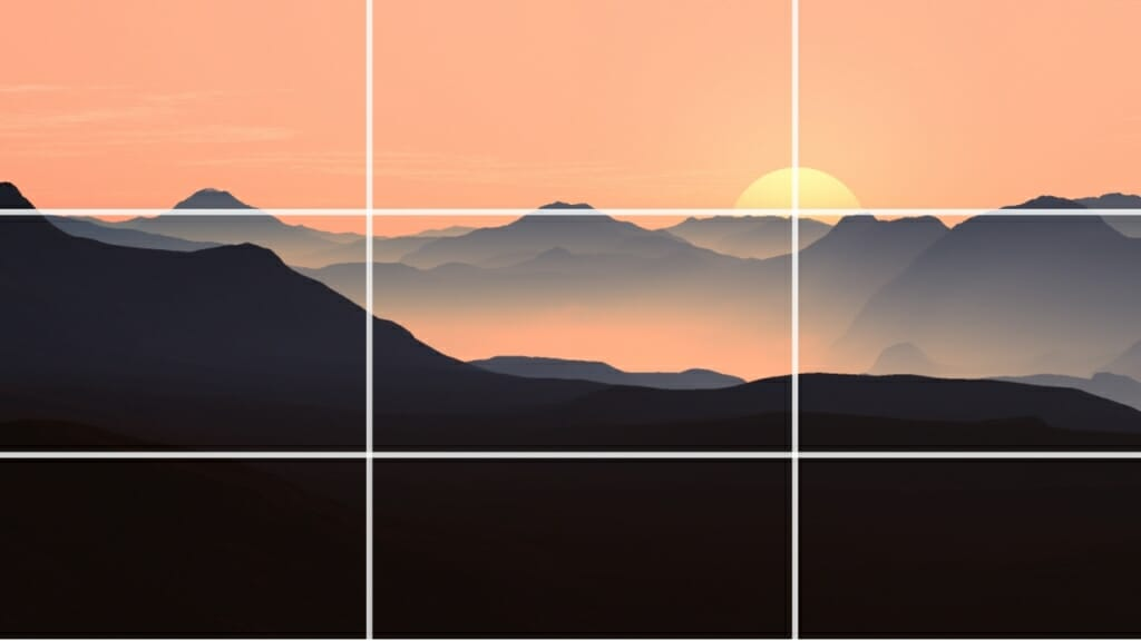 Rule of Thirds in Photography - Horizon Position - Sunny 16