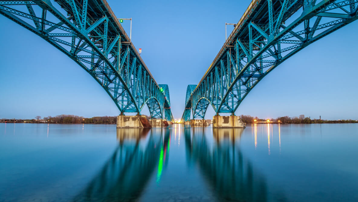 Rule of Thirds in Photography - Rule of Thirds Composition of Bridge Example - Sunny 16