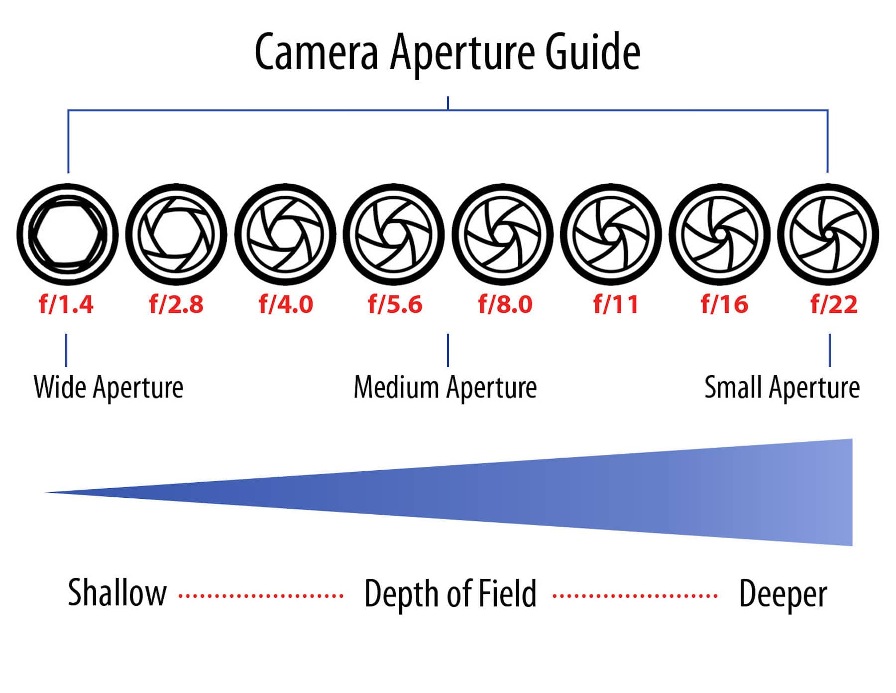 Sunny 16 Rule Chart PDF in Photography - Camera Aperture Guide