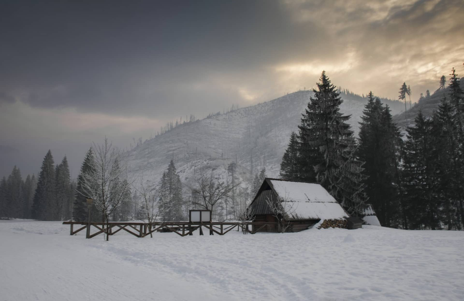 What is Ambient Lighting Photography — Cloudy Cabin in Nature — Sunny 16