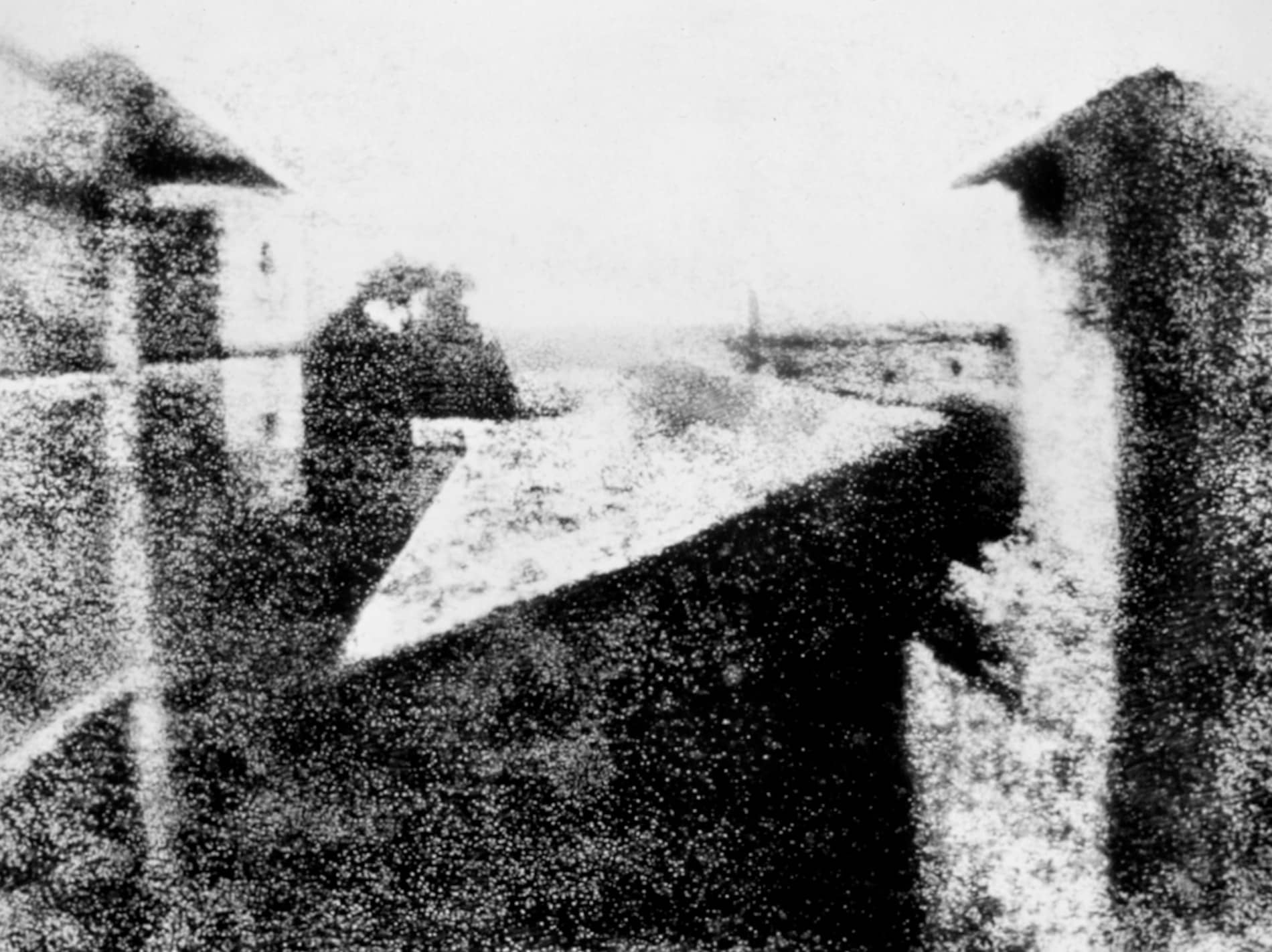 When Did Photography Start - First Photograph Sepia