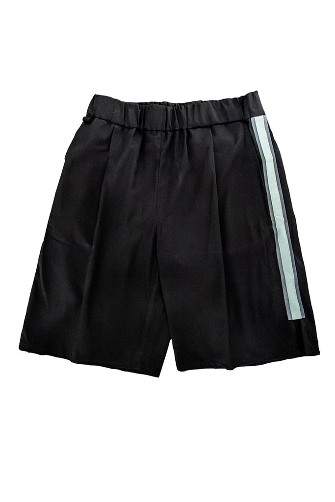Axis Black Shorts with Orbit-Green Reflective Panel - BISKIT
