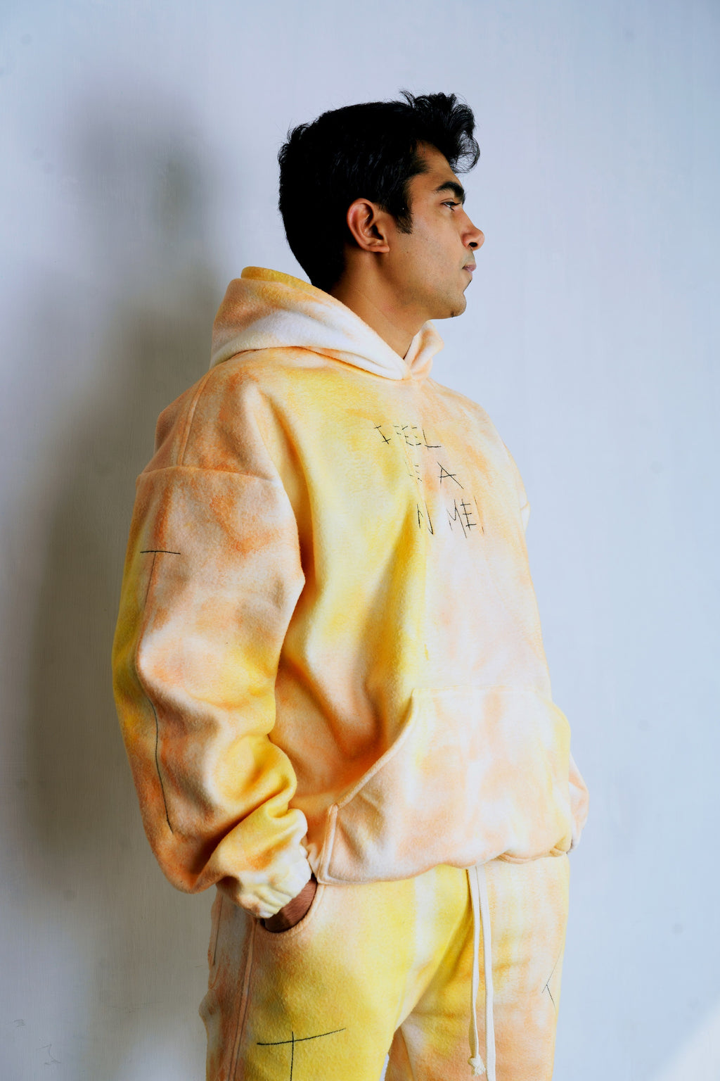 Yellow-Orange Fur Hoodie