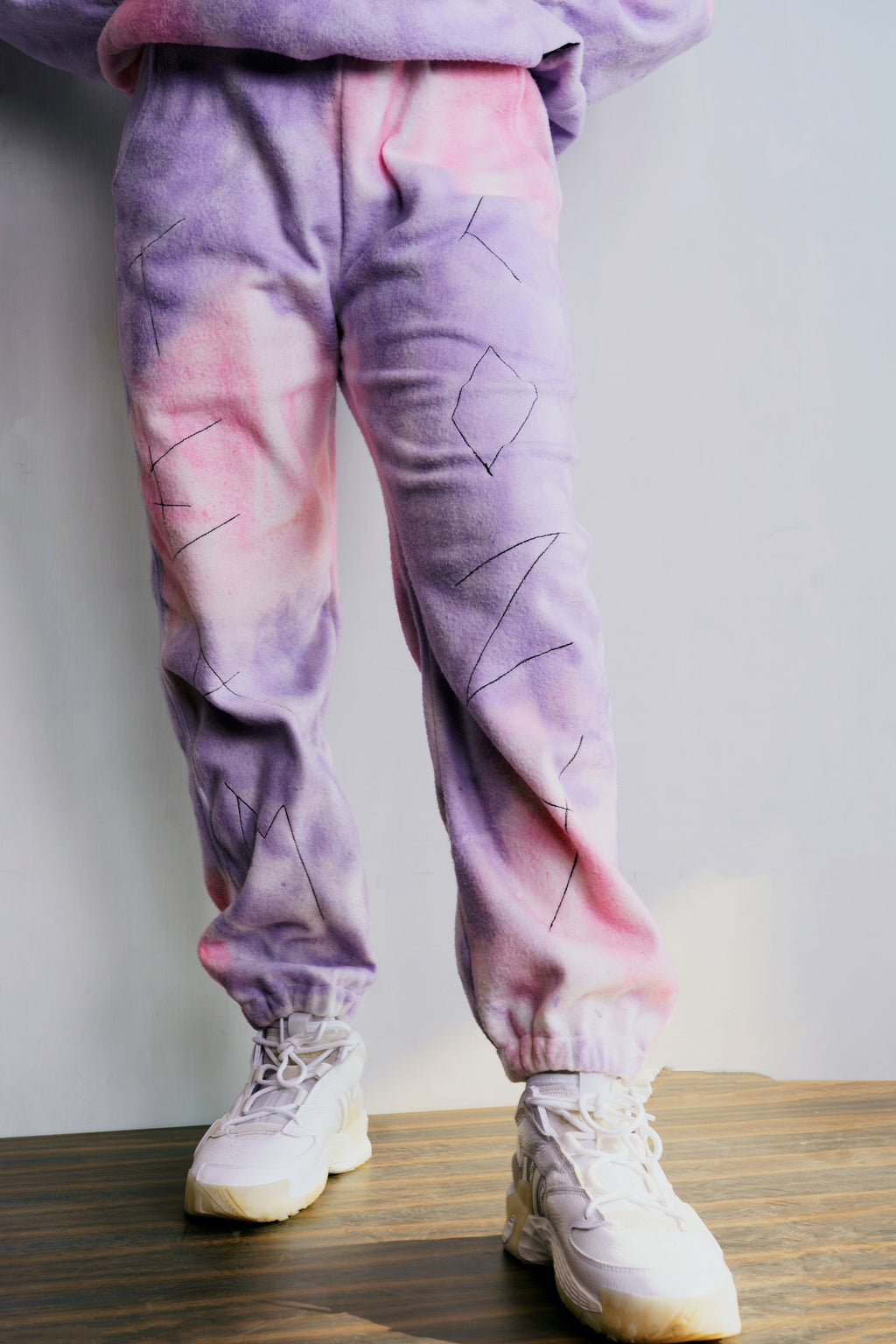 Purple-Lavender Fur Jogger