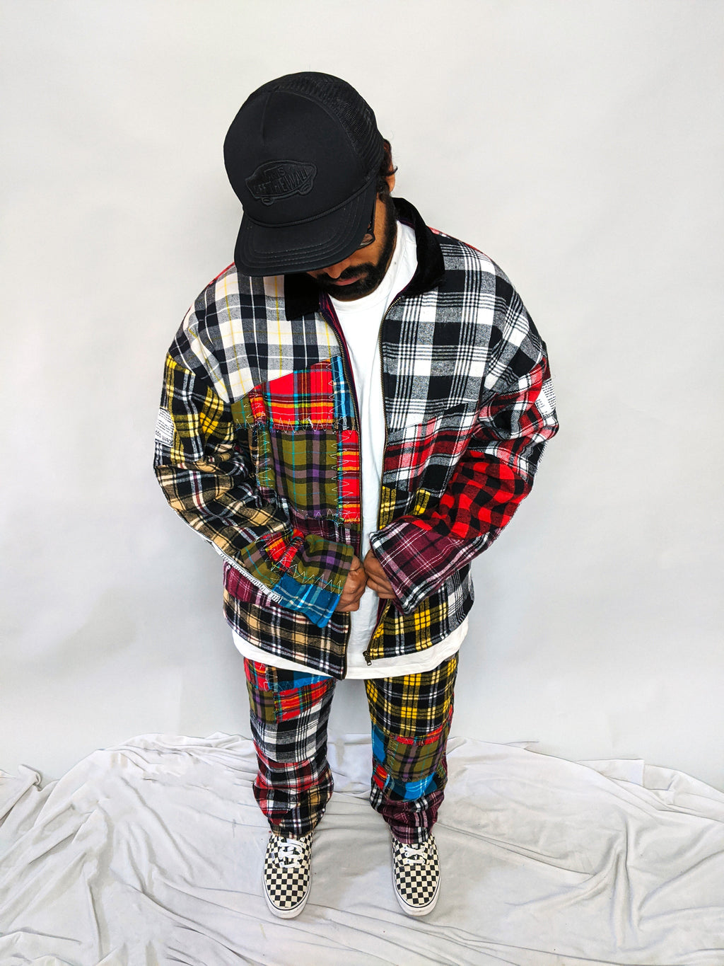 Upcycled Check Jacket