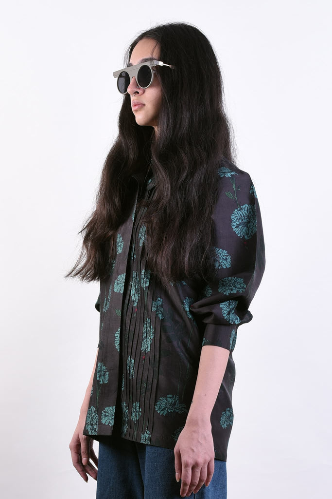 Marigold Blues Silk Shirt