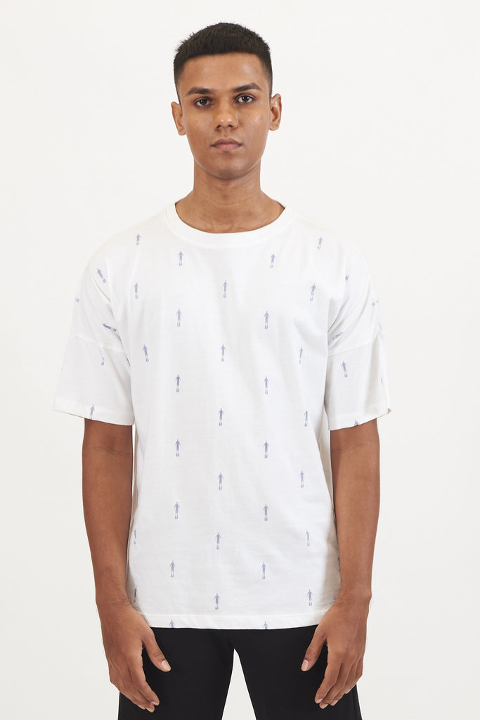 Astro Print Drop Shoulder T-Shirt