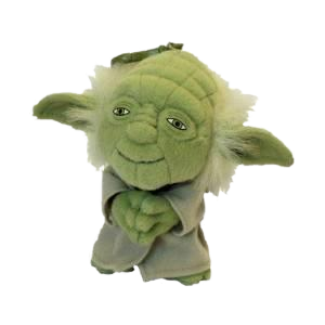 "Star Wars 4"" Plush Yoda keyring"