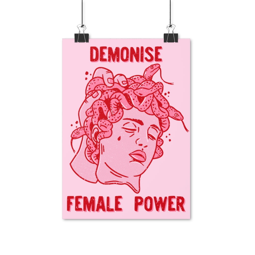 Demonise Female Power - print