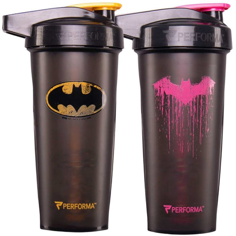 2 Pack Bundle, ACTIV Shaker Cups, 28oz, Batman & Pink Batman, Performa USA