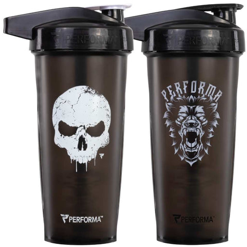 2 Pack Bundle, ACTIV Shaker Cups, 28oz, SkullCrusher & BeastMode, Performa USA