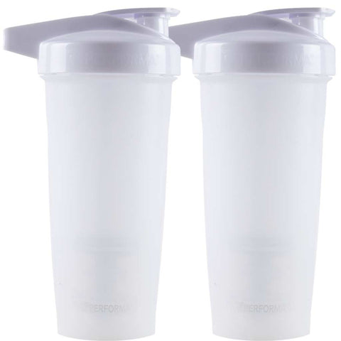 2 Pack Bundle, ACTIV Shaker Cups, 28oz, White, Performa USA