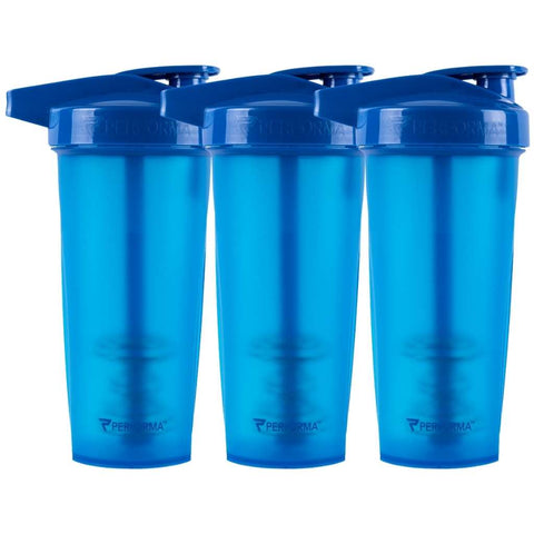 3 Pack Bundle, ACTIV Shaker Cups, 28oz, Blue, Performa USA