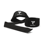 Padded Lifting Straps, 1 Pair, White on Black - PERFORMA™ USA