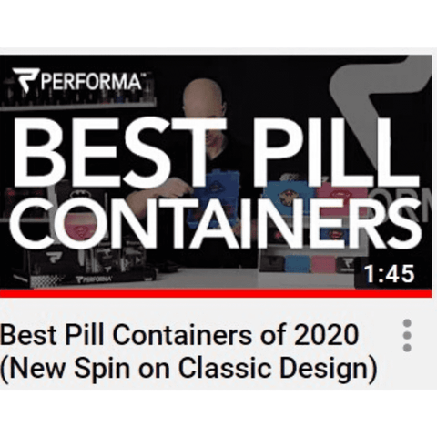Chest Pill Container, White on Black - PERFORMA™ USA