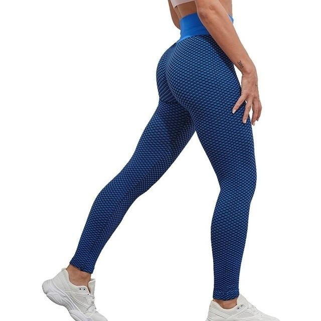 Legging Anti Cellulite<br> Bleu & Noir - FitnessBoutique.co