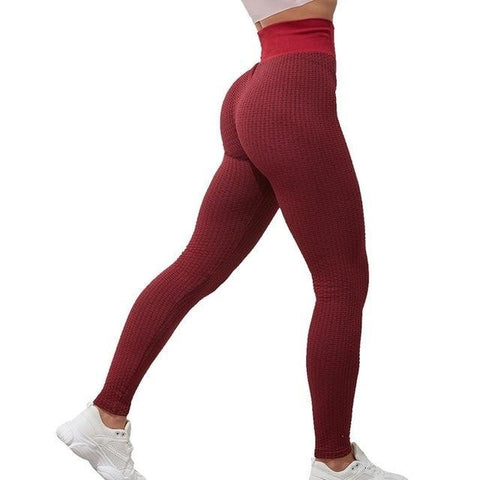 Legging Anti Cellulite<br> Rouge & Noir - FitnessBoutique.co