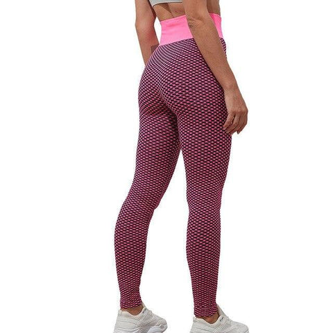 Legging Anti Cellulite<br> Rouge Rosé - FitnessBoutique.co