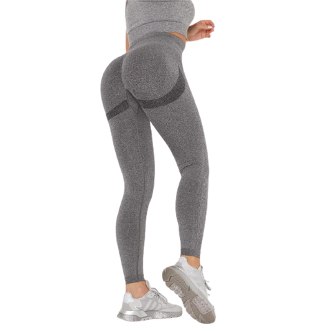 Legging Push Up<br> Gris & Gris Foncé - FitnessBoutique.co