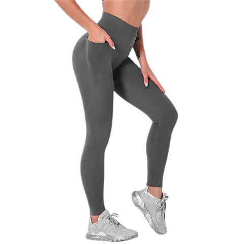 Legging Push Up<br> Simplicité Grise - FitnessBoutique.co