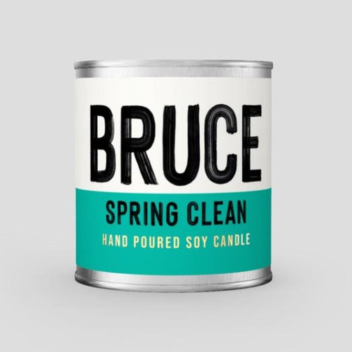 Bruce Spring Clean - Fresh Cotton Scented Soy Candle