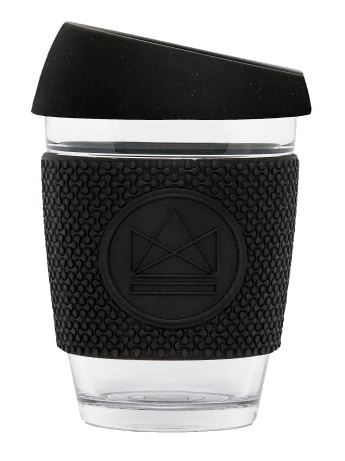 Glass Coffee Cup - Black - 340 ml