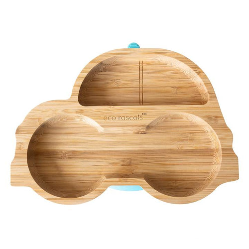 Bamboo Suction Car Plate - Green
