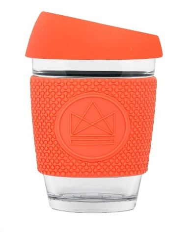 Glass Coffee Cup - Coral - 340 ml