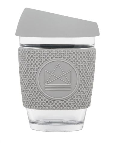 Glass Coffee Cup - Grey - 340 ml