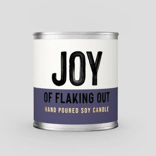 Joy of Flaking Out - Chocolate Scented Soy Candle