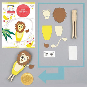 Make Your Own Lion Peg Doll