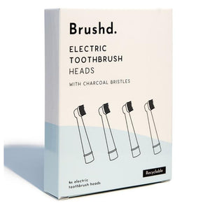 Oral-B Compatible Recyclable Electric Toothbrush Heads - Charcoal Bristles