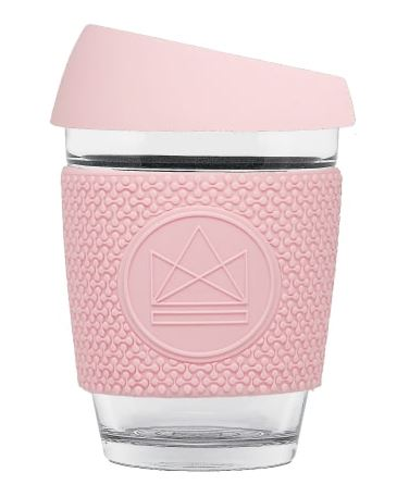 Glass Coffee Cup - Pink - 340 ml