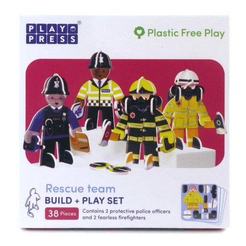 Police & Firefighters - 3D Building Playset