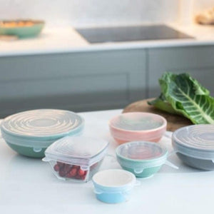 Silicone Stretch Lids - Set of 6