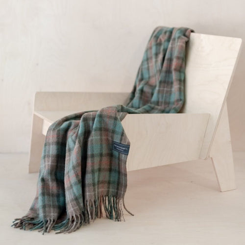 Recycled Wool Knee Blanket - Fraser Hunting Weathered Tartan
